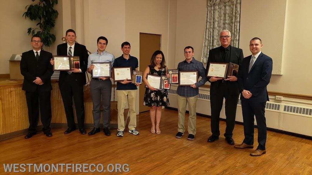 5 Year Award Recipients: (l-r)President Matt Gallagher, Dan Weissberg, Bill Tessing V, Dan Palmadessa, Shelly Lluz, Kyler Graeber, John Grothusen and Vice President Nate Maronski. (not in the photo Brad Medes)