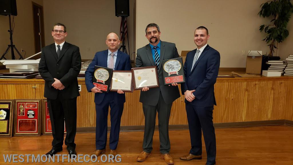 20 Year Award Recipients: (l-r)President Matt Gallagher, Bob Callahan, Dan Devitt and Vice President Nate Maronski.