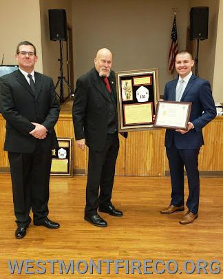 50 Year Award Recipient: (l-r)President Matt Gallagher Hank Voigtsberger and Vice President Nate Maronski.