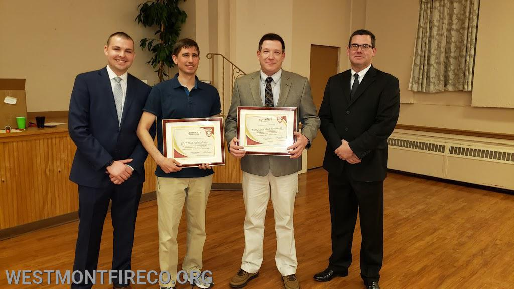 Special Award Recipients: (l-r)Vice President Nate Maronski, Dan Palmadessa, Bob Krupinski and President Matt Gallagher.
